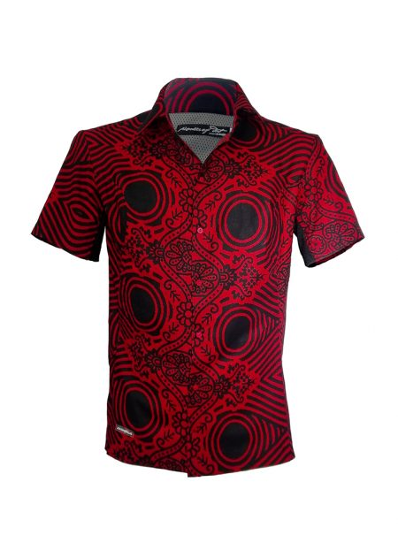 Indola African Riding Shirt Red Sweshwe