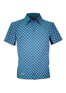 Indola African Riding Shirt Blue Sweshwe