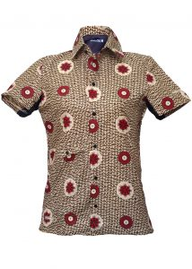 Indola African Riding Shirt Brown Local Front