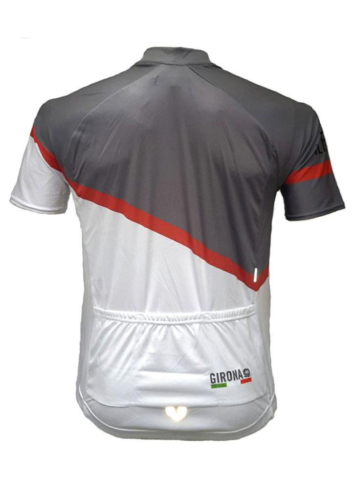 Charcoal Pantini Mens Lycra Cycling Shirt Back