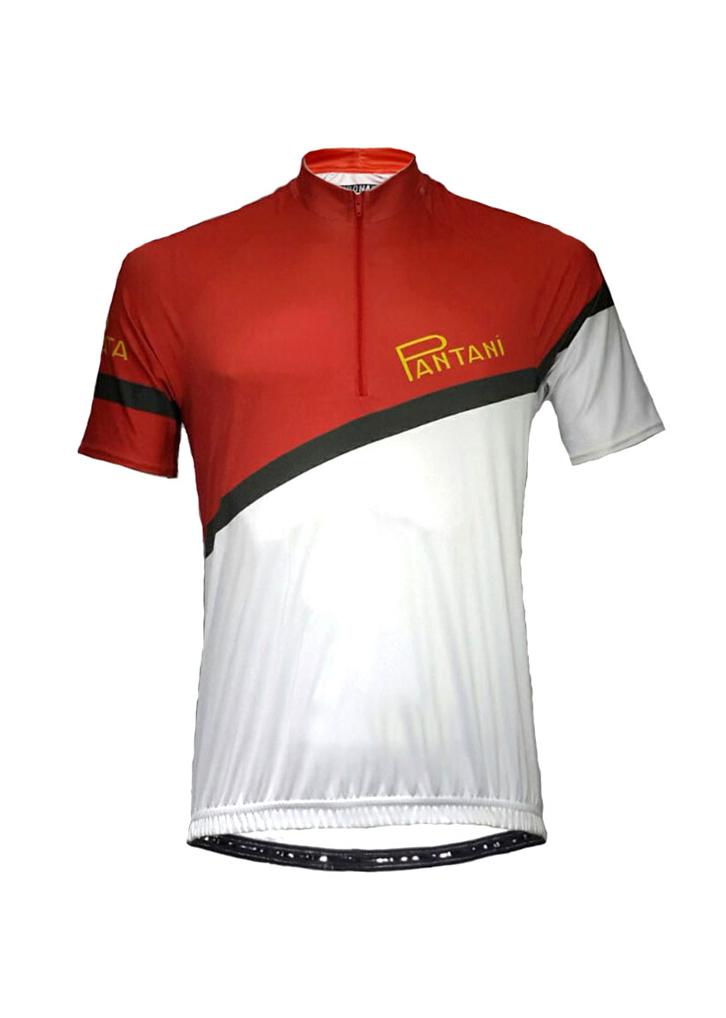 Red Pantani Mens Lycra Cycling Shirt