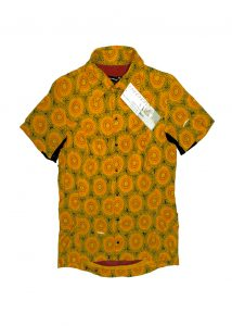 african-riding-shirt-orange-and-green-circles