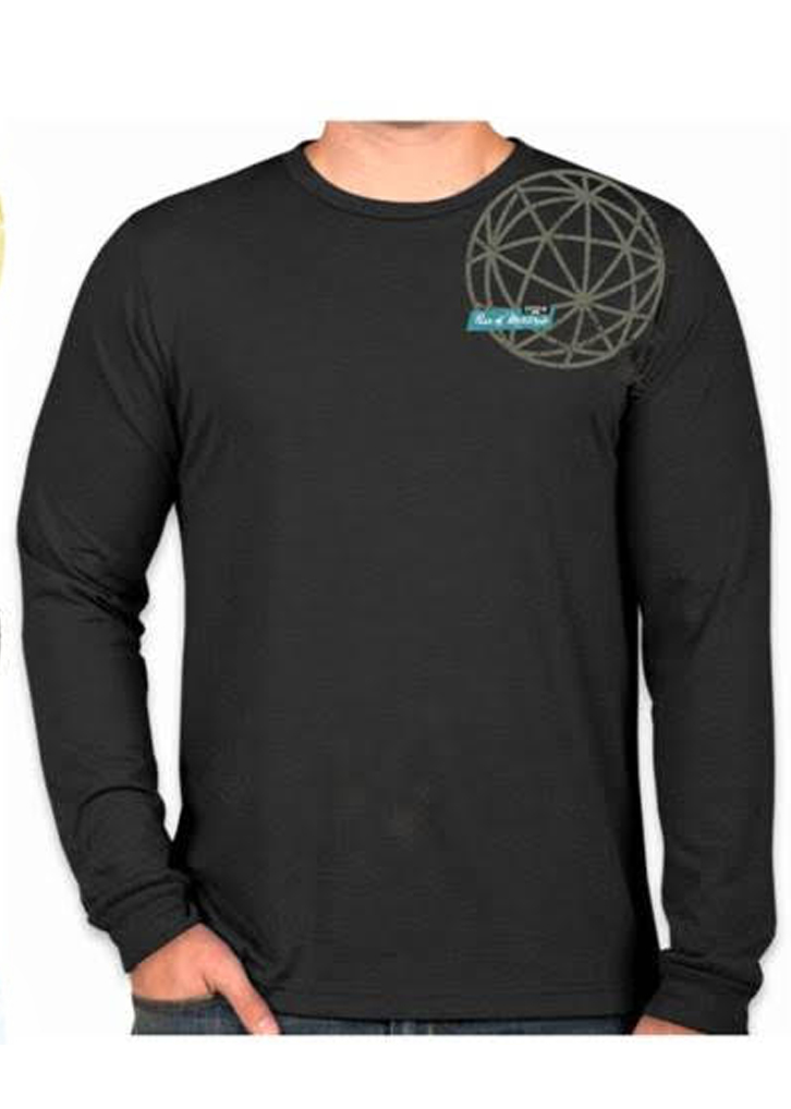 Cotton Lycra Long Sleeve T Black