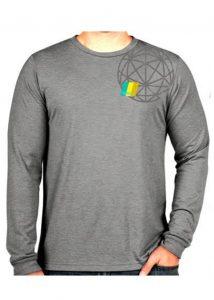 Cotton Lycra Long Sleeve T Grey