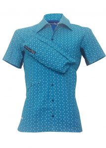 Indola African Riding Shirt Blue Small