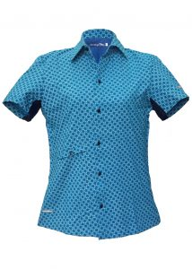 Indola African Riding Shirt Blue Small Pattern