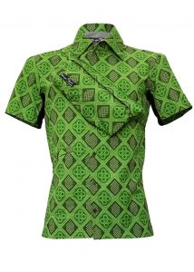 Indola African Riding Shirt Green Geo