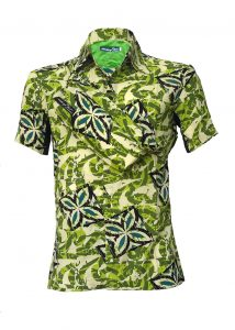 Indola African Riding Shirt Green Viscose