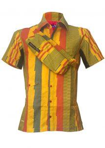 Indola African Riding Shirt Orange Stripes