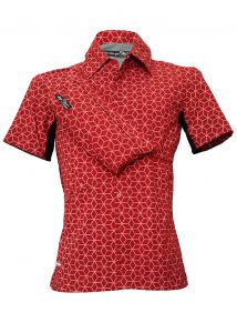 Indola African Riding Shirt Red Cube