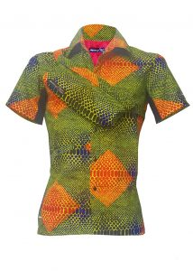 Indola African Riding Shirt Snake Skin